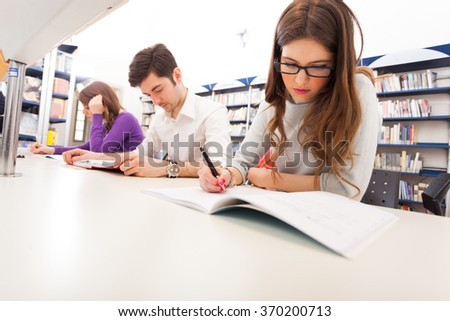 Group of students at work