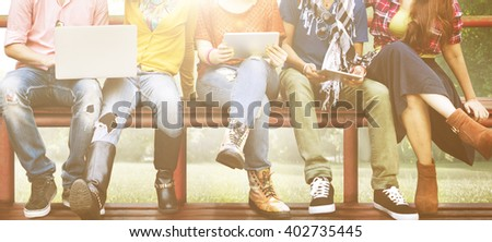 Group of Students Friends Lifestyle Talking Concept #402735445