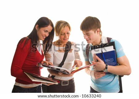 Students Having Fun, Doing Home Work Stock Images - Image: 15230414