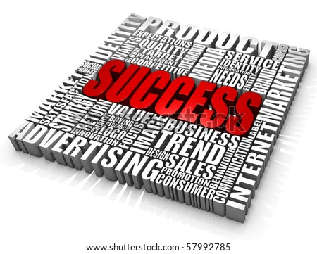 Group of success related words. Part of a series of business concepts.