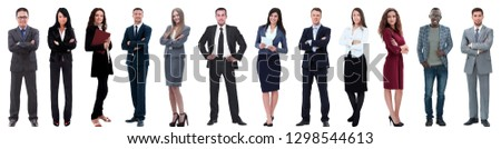 group of successful business people isolated on white #1298544613