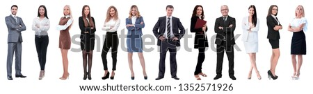 group of successful business people isolated on white #1352571926