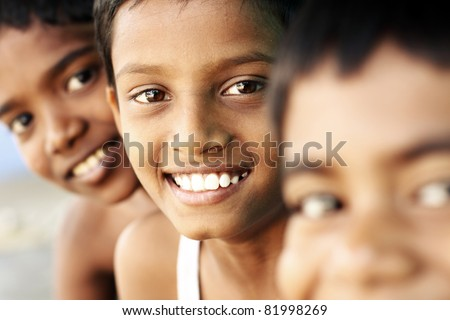 Group of teen boys looking at the camera.