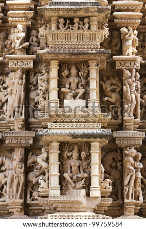 Group of temples of Khajuraho, famous for their erotic sculptures � India