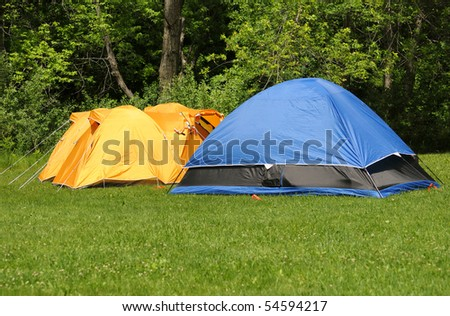 Group of tents