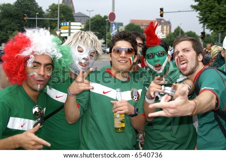 Group of the Mexican fans