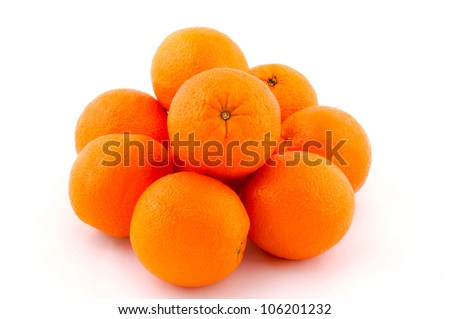Group of the oranges