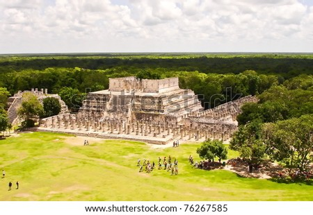 Group of the Thousand Columns at Chichen Itza in Mexico