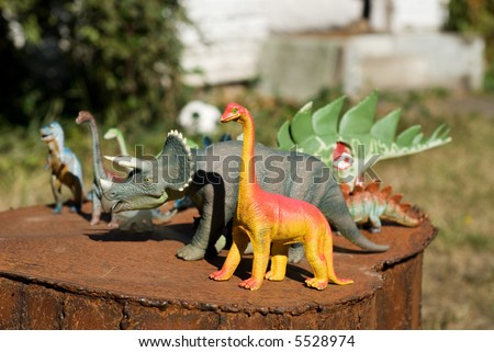 group of toy dinosaurs