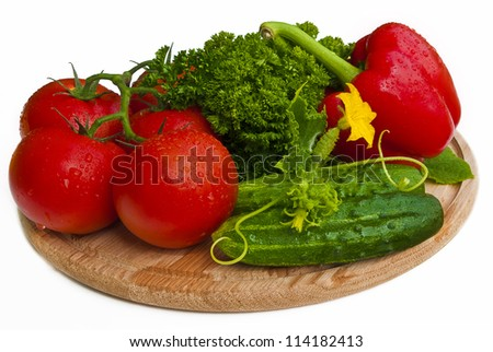 Group of vegetables closeup view