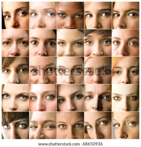 group of women closeup