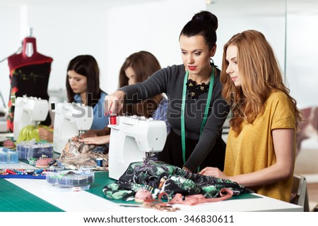 Group of women in a sewing workshop