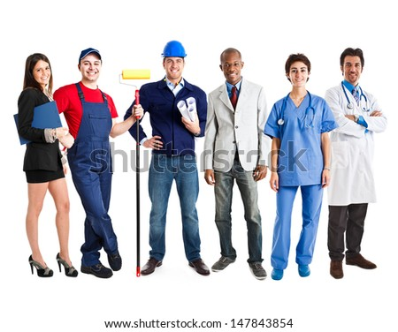 Group of working people