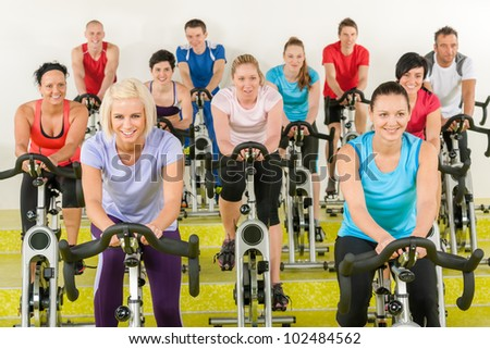 group of young people at the gym