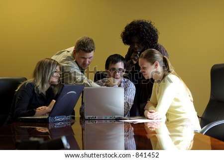 Group of young professionals in a meeting