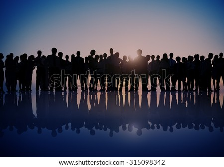 Group People Corporate Business Standing Silhouette Concept #315098342
