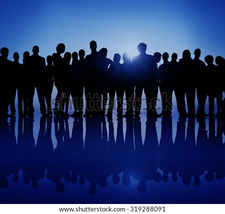 Group People Corporate Business Standing Silhouette Concept #319288091