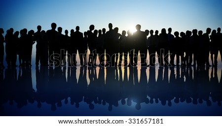 Group People Corporate Business Standing Silhouette Concept #331657181