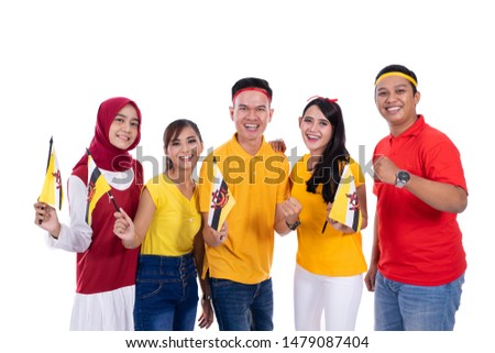 group people of supporter of brunei national team #1479087404