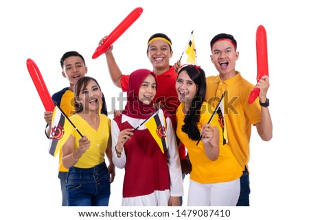 group people of supporter of brunei national team #1479087410