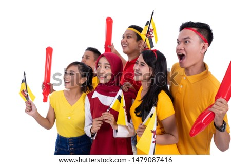 group people of supporter of brunei national team #1479087416