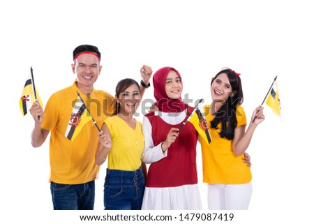 group people of supporter of brunei national team #1479087419