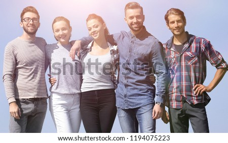 group portrait of confident young people #1194075223