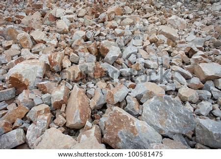 group rock and stone at quarry field,China