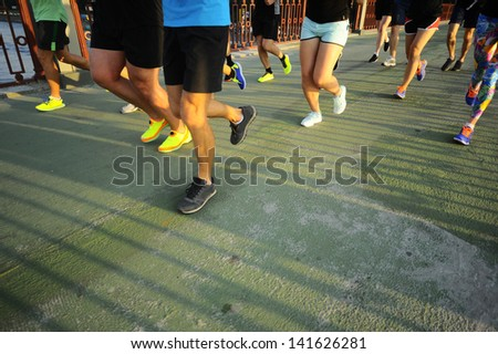 Group runner on competition.