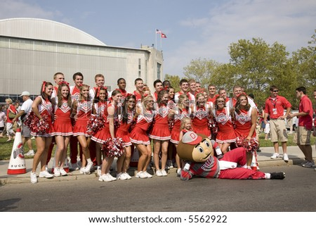 stock photo : Group shot of the Ohio State cheerleading squad with ...
