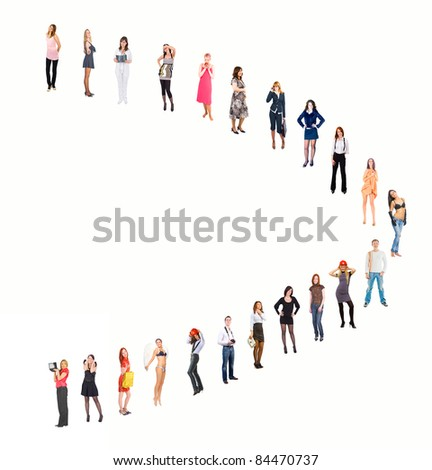 Group Symbol Unity - stock photo