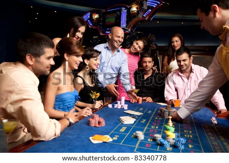 group with winning player getting his chips