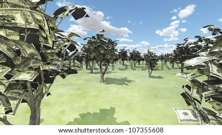 Grove of USA money Trees