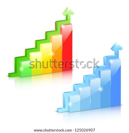 Growing bar graphs with arrow