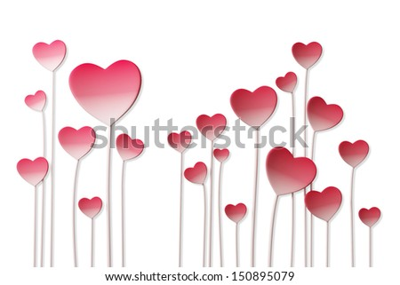 growing hearts love background