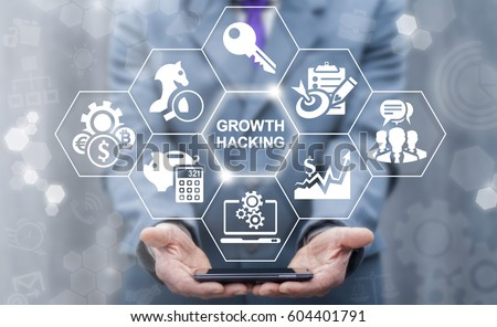 growth hacking concept. growing ...