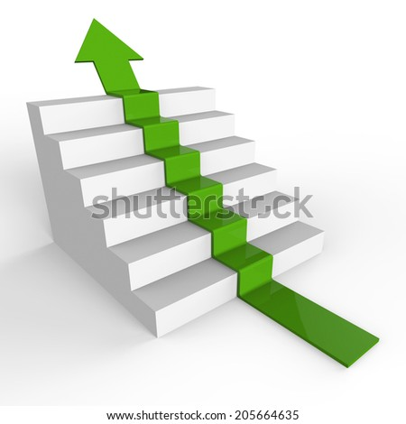 Growth Stairs Representing Rising Increase And Successful