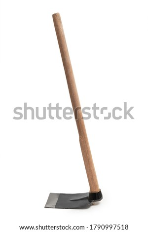 grub hoe or grab hoe, a garden or gardening tool equipment isolated on white background with clipping path Zdjęcia stock ©