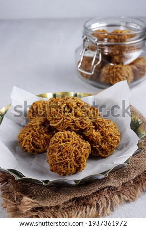 Grubi is one type of fried Indonesian traditional snacks, which is made from  grated sweet potatoes and palm sugar. Zdjęcia stock ©