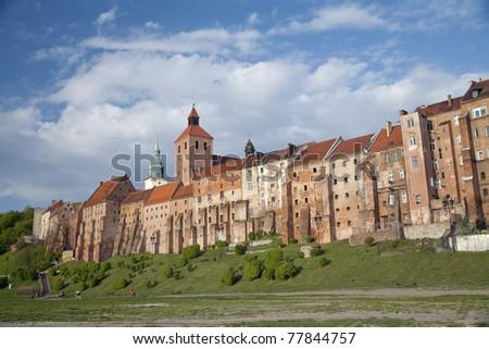Grudzi?dz Old Town district in Poland. Zdjęcia stock ©