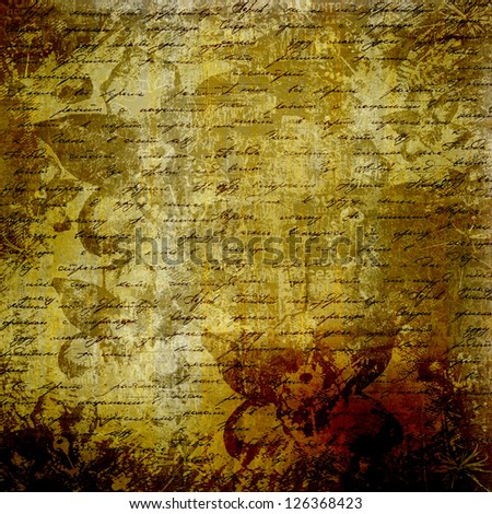 Grunge abstract background with handwrite text for design