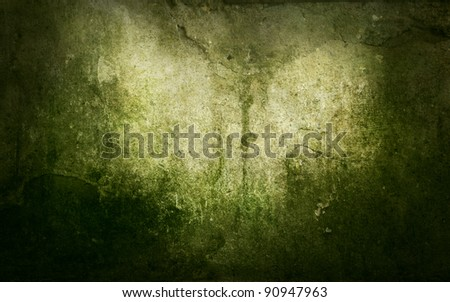Grunge abstract background with mould stains over an old wall