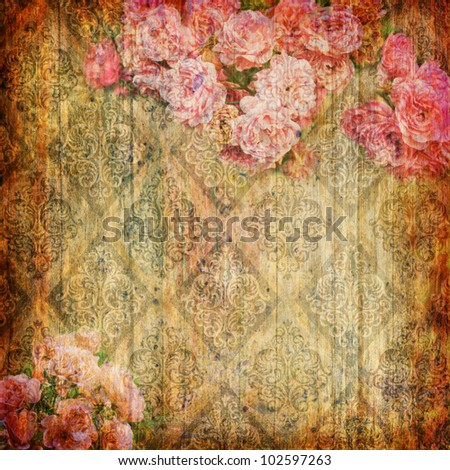 Grunge abstract background with wallpaper