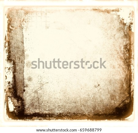 Grunge abstract frame with worn borders.