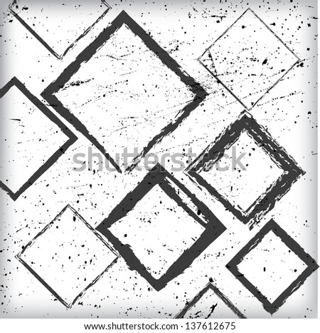 Grunge Abstract Geometrical Design #137612675