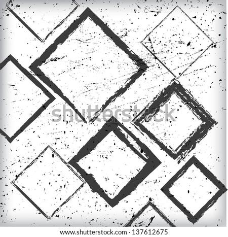 Grunge Abstract Geometrical Design #137612675