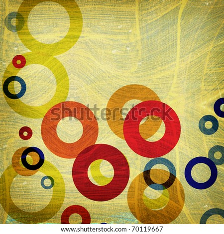grunge abstract graphic design background circles with space for your text