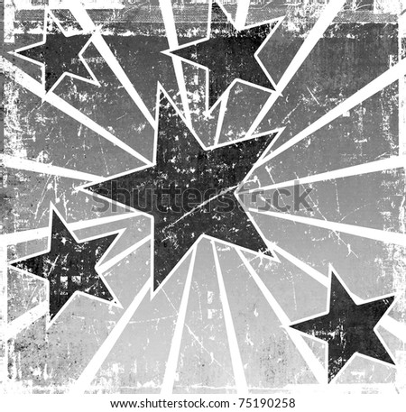 Grunge abstract stars template