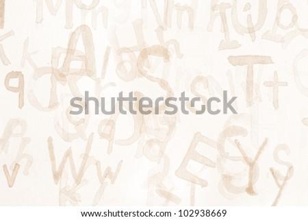Grunge Alphabet Background #102938669