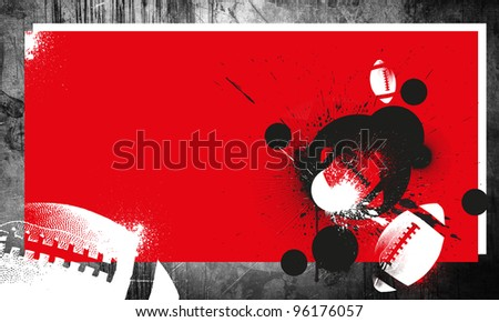 Grunge american football background with space (poster, web, leaflet, magazine)